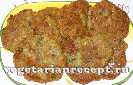 Блюдо из топинамбура – оладьи