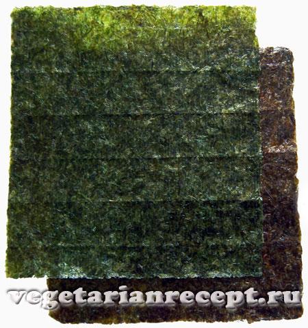 Сушеные листы нори