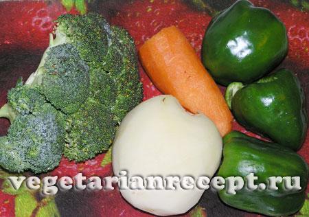 Овощи для приготовления супа