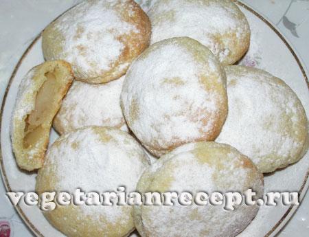Творожное песочное печенье