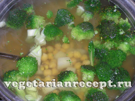 Приготовление постного супа из нута