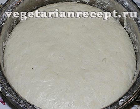 Тесто для хлебных тарелок подошло