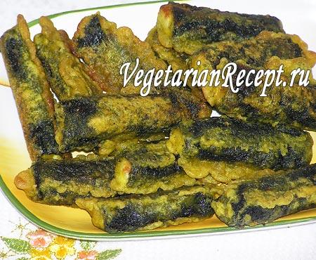 """Вегетарианская """"жареная рыба"""" (фото)"""