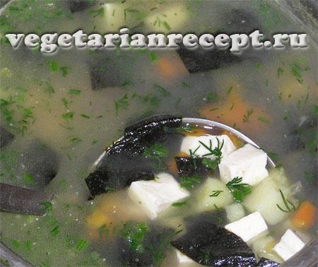 Вегетарианский суп уха
