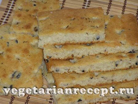 Итальянский плоский хлеб - фокачча