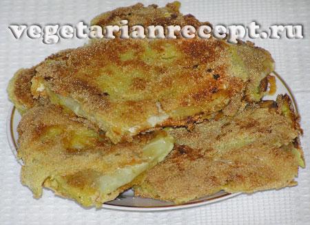 Вегетарианский капустный шницель с сыром