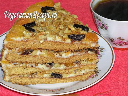 Торт Аленушка. Вегетарианский торт без яиц (фото)