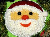 Дед Мороз - украшение салата