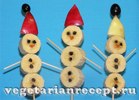 Снеговики для детского новогоднего стола