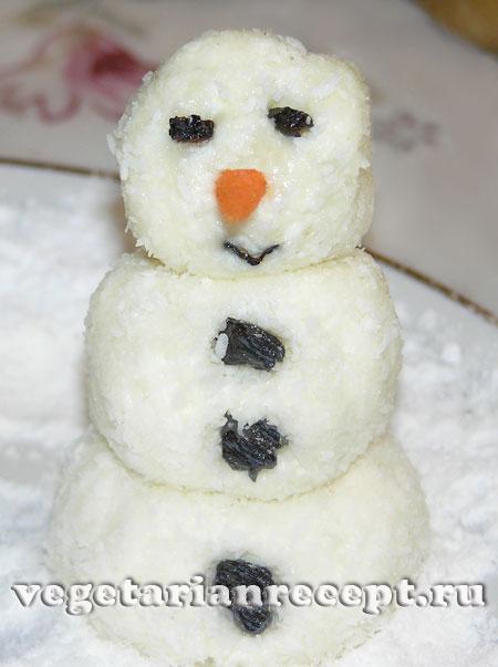 Как сделать вкусного снеговика своими руками