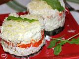 Салат Мимоза без рыбы и яиц