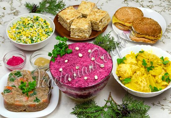 Вегетарианское меню на Новый год