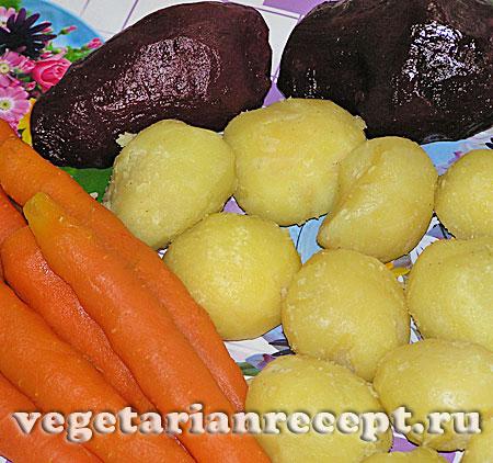 Овощи для приготовления вегетарианской шубы