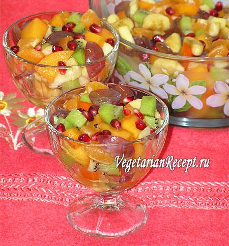 Рецепт салата из фруктов (фото)