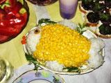 "Салат ""Рыбка"" с кукурузой и рисом"