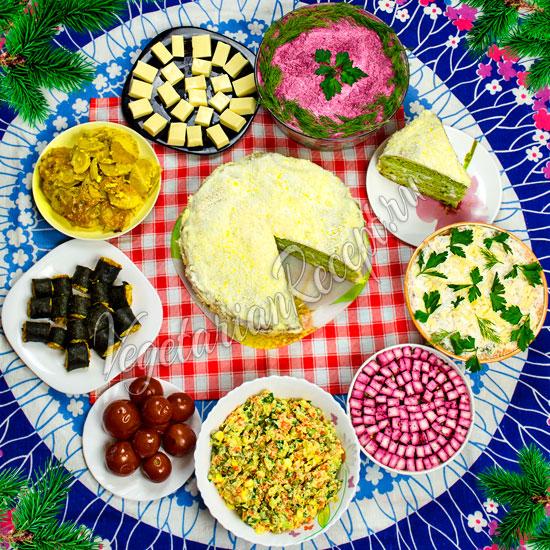 Вегетарианские новогодние рецепты