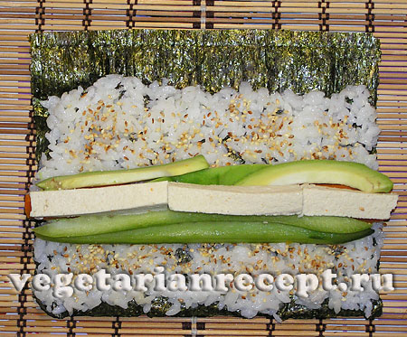 Приготовление вегетарианских роллов