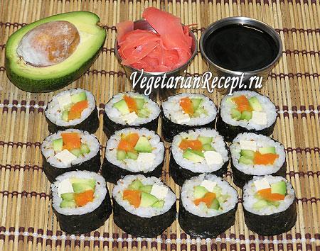 Вегетарианские суши роллы