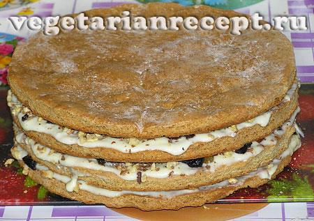 Вегетарианский торт. Приготовление (фото)