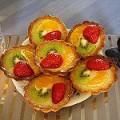Песочные корзинки с фруктами (фото)