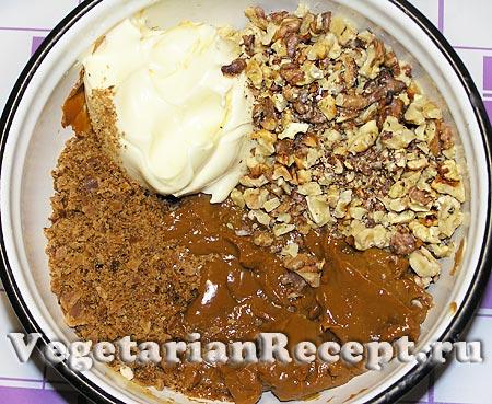 Приготовление крема для орешков (фото)