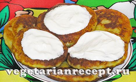 Картофельные зразы с сыром со сметаной (фото)