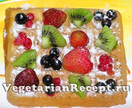 Бельгийские вафли с фруктами (фото)