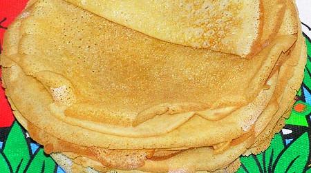 Вегетарианские блины без яиц (фото)