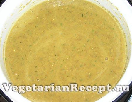 Чечевичный суп пюре (фото)