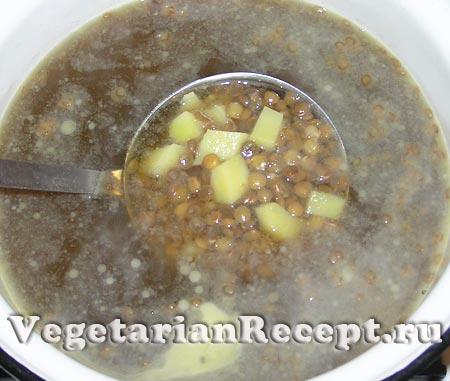 Приготовление супа из чечевицы (фото)