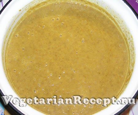 Суп пюре из чечевицы. Приготовление (фото)