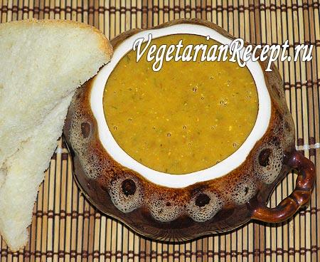 Суп пюре из чечевицы (фото)