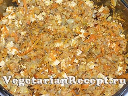 Вегетарианская начинка для голубцов (фото)