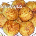 Постные картофельные шарики с соевым фаршем (фото)