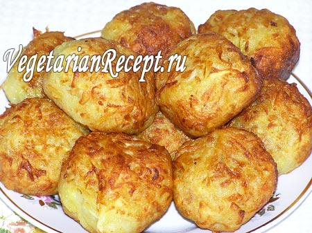 Постные шарики из картофеля и соевого фарша (фото)
