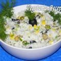 Салат с рисом и сыром (фото)