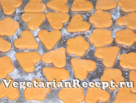 Томатное печенье на противне (фото)