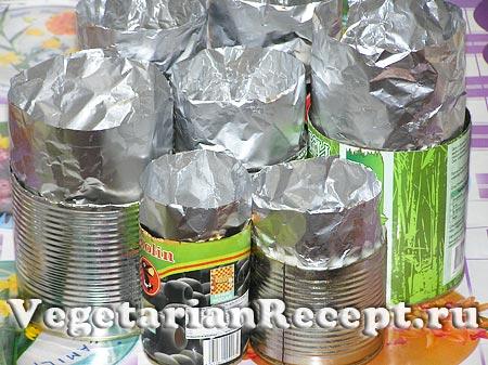 Подготовленные формы для пасхальных куличей
