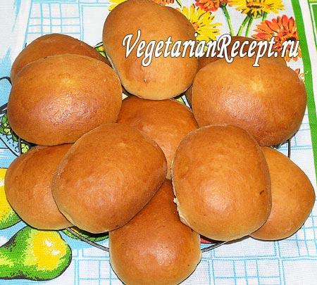 Пирожки из постного дрожжевого теста (фото)