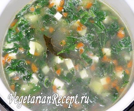 Приготовление супа с крапивой