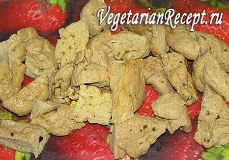 Кусочки сейтана для шашлыка