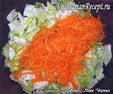 Тушение капусты и моркови (фото)