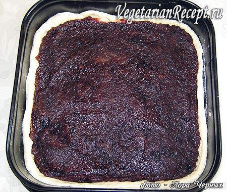 Приготовление открытого пирога с повидлом