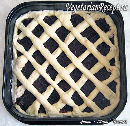 Сетка из теста на пироге