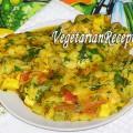 Вегетарианский омлет без яиц. Фото.
