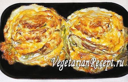 Запеченная в духовке фаршированная капуста (фото)