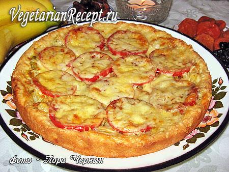 Пирог-пицца с капустой (без яиц)