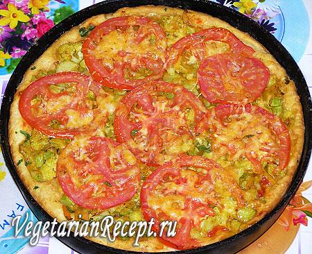 Пирог-пицца с овощами (фото)