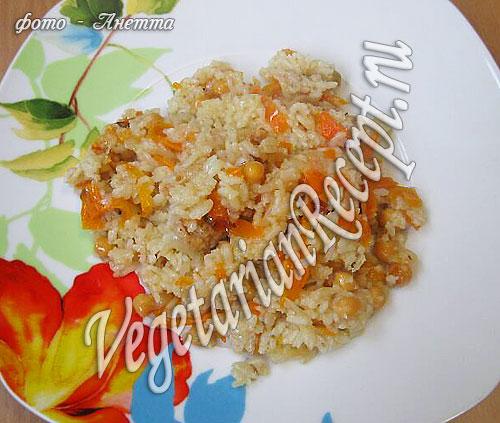 Вегетарианский плов с нутом - фото-рецепт