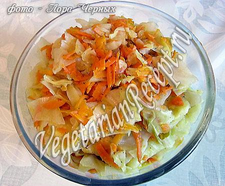 Бездрожжевые пирожки - капустная начинка